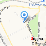Фон на карте Пятигорска (КМВ)