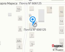 Схема местоположения почтового отделения 606125
