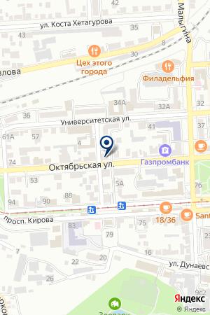 ОО ПЯТИГОРСКАЯ ГОРОДСКАЯ ФЕДЕРАЦИЯ ПРОФСОЮЗОВ на карте Пятигорска