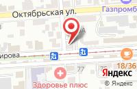 Схема проезда до компании ЭВА Пресс в Пятигорске