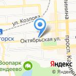 Банк Уралсиб на карте Пятигорска (КМВ)