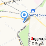 Вербена на карте Пятигорска (КМВ)
