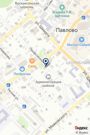 РЕДАКЦИЯ ГАЗЕТЫ ПАВЛОВСКИЙ МЕТАЛЛИСТ на карте Павлово