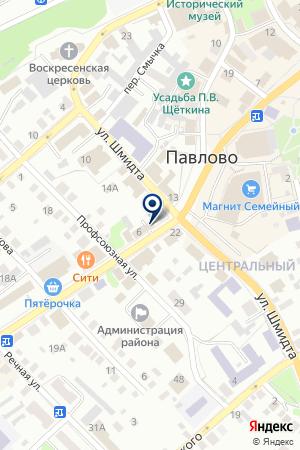 НОТАРИУС РОМАНОВА Т.В. на карте Павлово