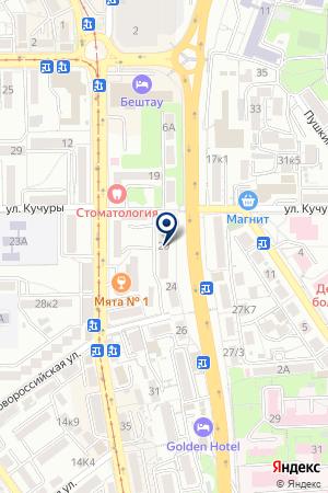 ТФ СТАВРОПОЛЬСКИЕ ЛОТЕРЕИ на карте Пятигорска