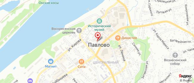 Карта расположения пункта доставки Павлово Красноармейская в городе Павлово