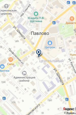 НОТАРИУС ИВАНОВ В.Е. на карте Павлово