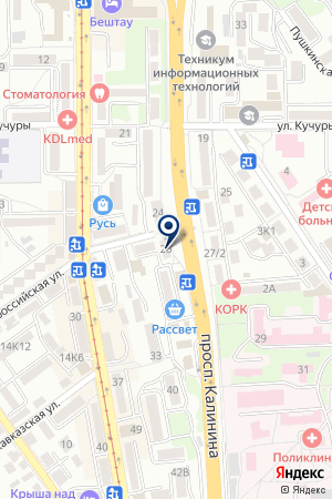 ТФ ЖИЛЬЕ-КОМФОРТ на карте Пятигорска