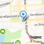 Бретелька на карте Пятигорска (КМВ)