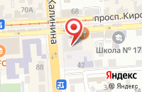 Схема проезда до компании Trend_showroom в Пятигорске