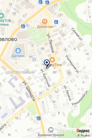 МУП БАНЯ № 1 на карте Павлово