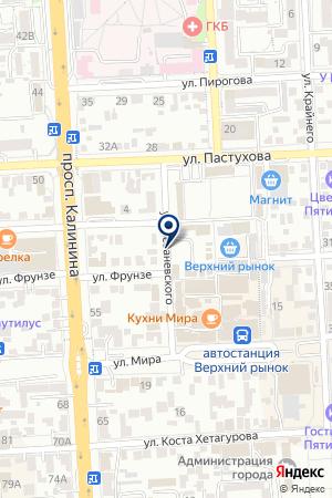 МАГАЗИН САНТЕХНИКИ АКВАЛЕНД на карте Пятигорска