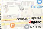 Схема проезда до компании FIORI в Пятигорске
