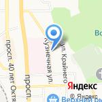 Виктори на карте Пятигорска (КМВ)