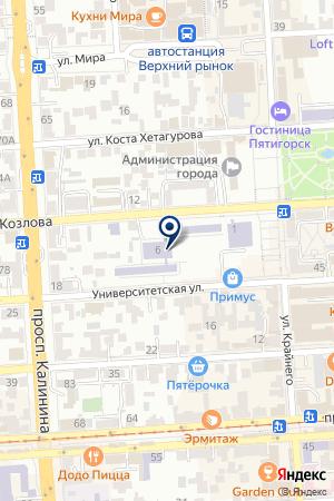 РЕДАКЦИЯ ГАЗЕТЫ БИЗНЕС РЕКЛАМА КМВ на карте Пятигорска