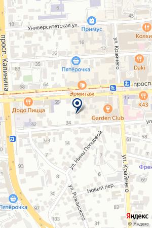 КАФЕ ВЕСТА на карте Пятигорска