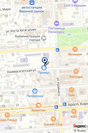 КОМПЬЮТЕРНЫЙ МАГАЗИН Ф1 на карте Пятигорска
