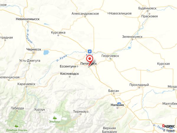 Пятигорск на карте