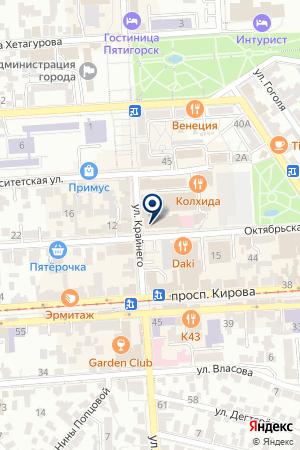 ПТФ КВАДРАТ на карте Пятигорска