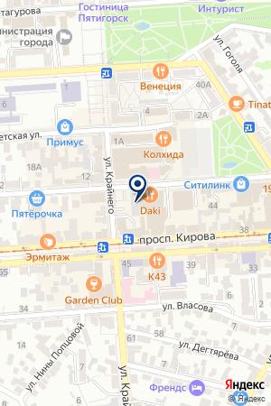 АГЕНТСТВО ПО ОРГАНИЗАЦИИ ПРАЗДНИКОВ ДОМОВОЙ+ на карте Пятигорска