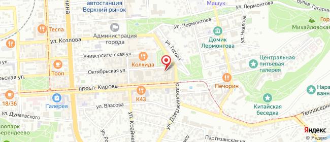 Карта расположения пункта доставки СИТИЛИНК в городе Пятигорск
