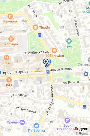 ТК АССОРТИ на карте Пятигорска