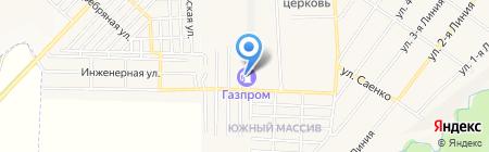 АЗС Газпром на карте Горячеводского