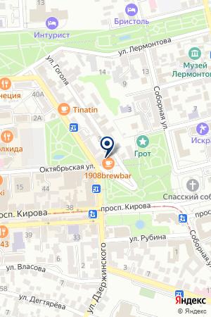 ЮГОР на карте Пятигорска