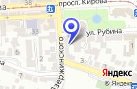 Схема проезда до компании ТФ ГЕЛИОС-КМВ в Пятигорске