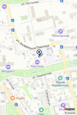 ПАНСИОНАТ КРАСНЫЙ ОКТЯБРЬ на карте Пятигорска