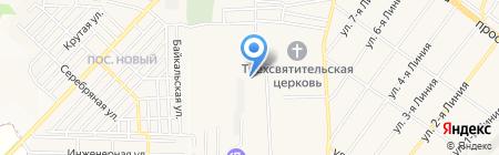 Харис на карте Горячеводского