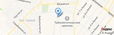 Продовольственный магазин на карте Горячеводского