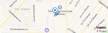 Автосервис на Захарова на карте Горячеводского