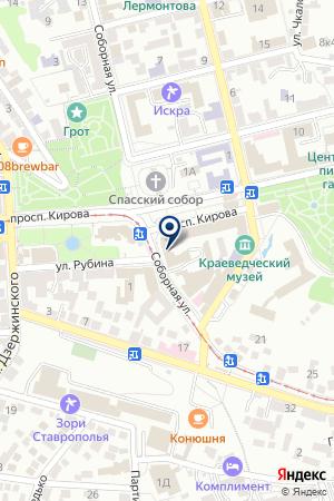САЛОН СВЕТОТЕХНИКИ ORION-СВЕТ на карте Пятигорска