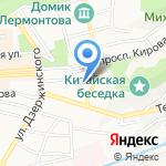 Беллисимо на карте Пятигорска (КМВ)