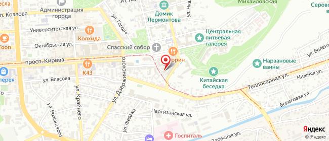 Карта расположения пункта доставки Пятигорск Соборная в городе Пятигорск