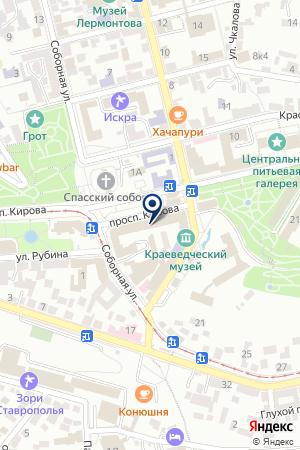 ПРОДОВОЛЬСТВЕННЫЙ МАГАЗИН ХОЛОД на карте Пятигорска