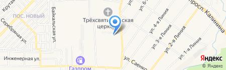 Северное Сияние на карте Горячеводского