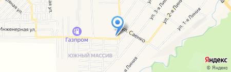 Град-Универсал на карте Горячеводского