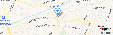 Мехков на карте Горячеводского