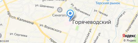 Ставропольский краевой госпиталь для ветеранов войн на карте Горячеводского