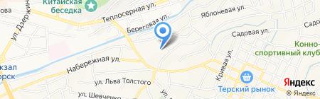 Детский сад №2 Кораблик на карте Горячеводского