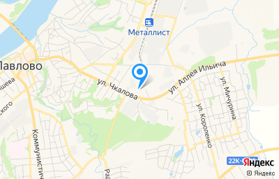 Местоположение на карте пункта техосмотра по адресу Нижегородская обл, г Павлово, ул Чкалова, стр 59