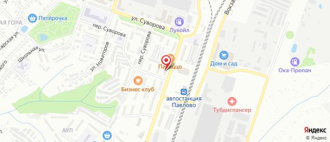 Карта расположения пункта доставки Билайн в городе Павлово
