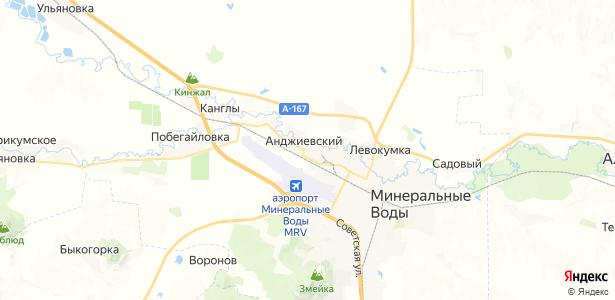 Анджиевский на карте