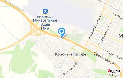 Местоположение на карте пункта техосмотра по адресу Ставропольский край, Минераловодский р-н, х Красный Пахарь, ул Автомобильная, д 15