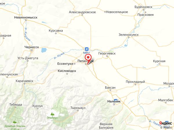 посёлок городского типа Горячеводский на карте