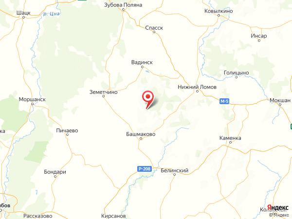 село Черкасское на карте