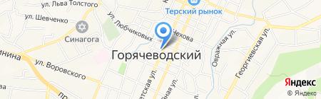 Гарун на карте Горячеводского