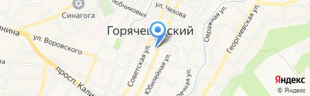 Детский сад №48 Вишенка на карте Горячеводского